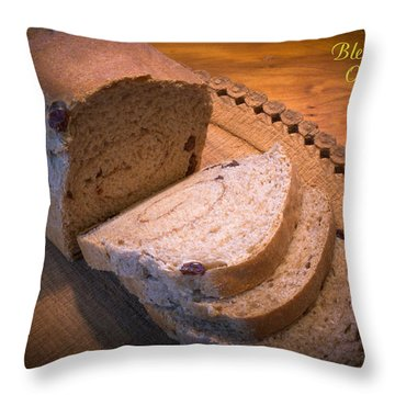 Bless Us O Lord Throw Pillow