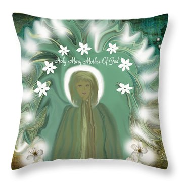 Blessed Mother If She Came To Earth Today Throw Pillow
