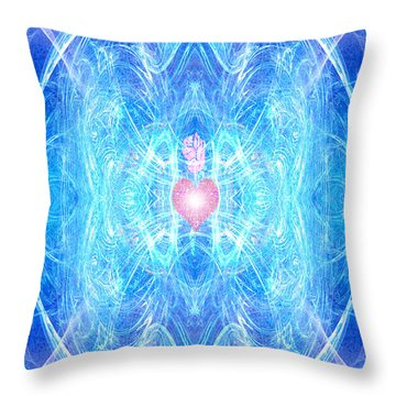 Blessed Mother Mary Throw Pillow