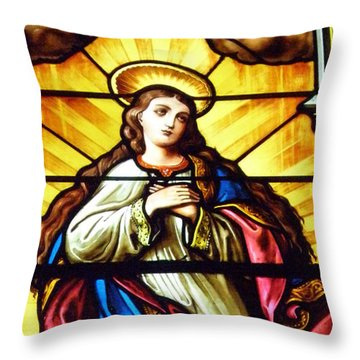 Throw Pillow featuring the photograph Blessed Mother's Ascention by Debby Pueschel