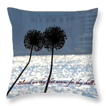 Blessed With Comfort Throw Pillow