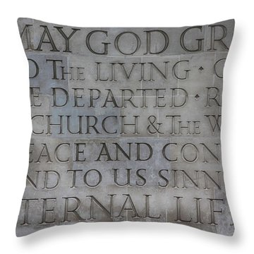 Blessing Throw Pillow by Stephen Stookey