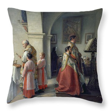 Blessing The Bread Throw Pillow