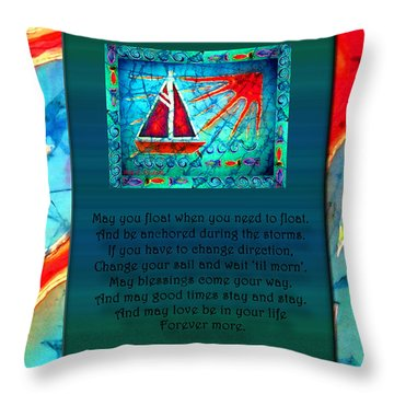 Blessings 1 Throw Pillow by Sue Duda