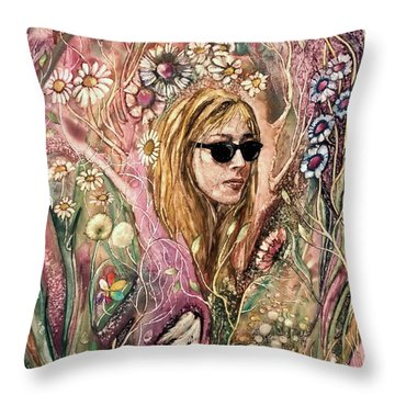 Throw Pillow featuring the painting Blind Beauty by Mikhail Savchenko