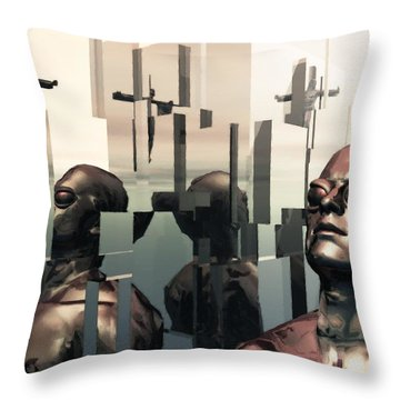 Blind Reflections Throw Pillow