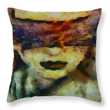 Throw Pillow featuring the digital art Blinded By Sorrow by Joe Misrasi