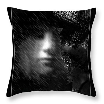 Blinded By The Rain. Throw Pillow