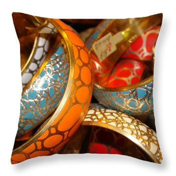 Throw Pillow featuring the photograph Bling by Ira Shander