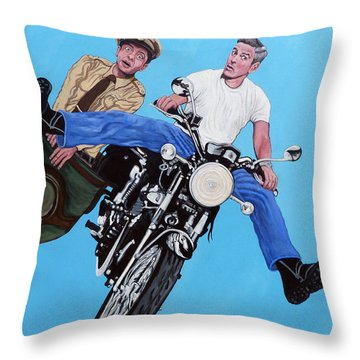 Blink Throw Pillow by Tom Roderick