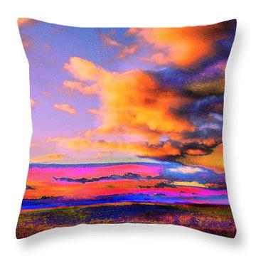 Blinn Hill View Throw Pillow by Expressionistart studio Priscilla Batzell