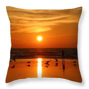 Bliss At Sunset   Throw Pillow by Christy Pooschke