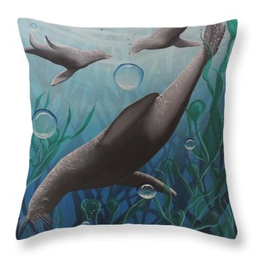 Throw Pillow featuring the painting Bliss by Dianna Lewis