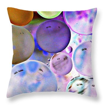 Throw Pillow featuring the photograph Blissful Bubbles by Christine Ricker Brandt