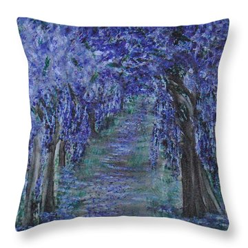 Blissful Walk Through Purple Throw Pillow