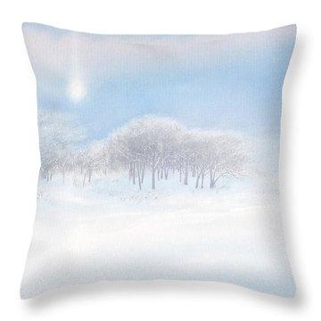 Blizzard Coming Throw Pillow