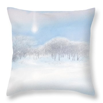 Blizzard Coming Throw Pillow