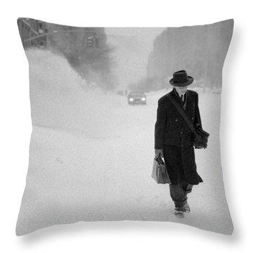 Blizzard On Park Avenue Throw Pillow