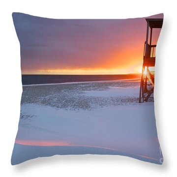 Blizzard Sunset Throw Pillow