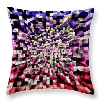 Block By Block Throw Pillow by Kellice Swaggerty