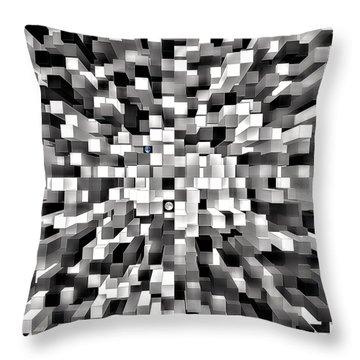 Blocked Space Throw Pillow
