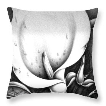 Bloming Flower Throw Pillow