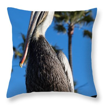 Blond Pelican Throw Pillow