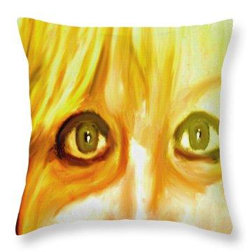 Blonde Throw Pillow