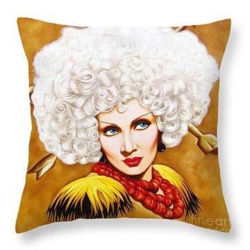 Blonde Venus Throw Pillow by Joseph Sonday