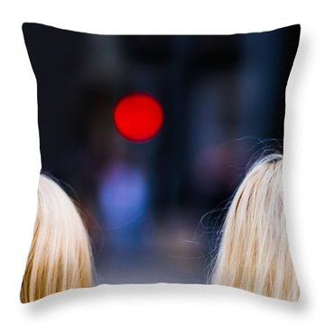 Blondes Are Not Allowed 2 - Featured 3 Throw Pillow by Alexander Senin
