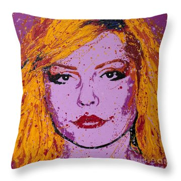 Blondie Throw Pillow