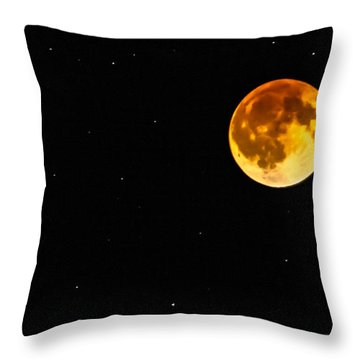 Blood Eclipse Throw Pillow