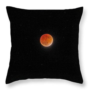 Throw Pillow featuring the photograph Blood Moon And Stars by Martin Konopacki