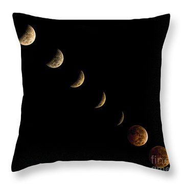 Blood Moon Throw Pillow by James Dean