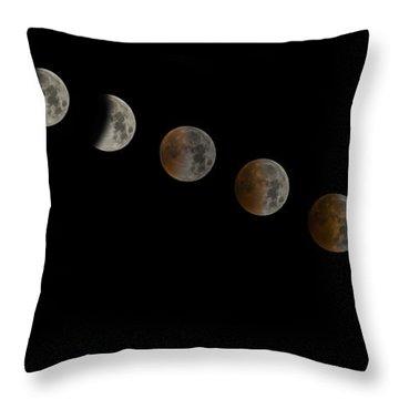 Blood Moon Eclipse Throw Pillow