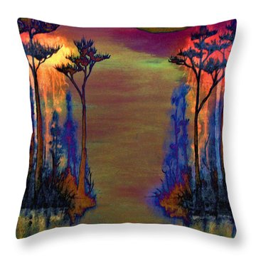 Blood Roots Throw Pillow by David Mckinney