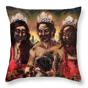 Blood Sisters Throw Pillow
