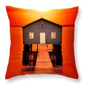 Blood Sunset Throw Pillow