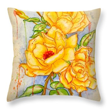 Blood Sweat And Tears Vignette Throw Pillow by Darren Robinson