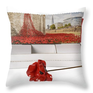 Blood Swept Lands And Seas Of Red Throw Pillow by Amanda Elwell