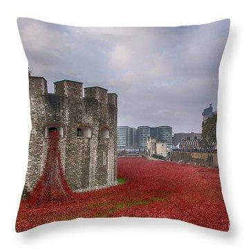 Blood Swept Lands Throw Pillow