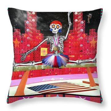 Bloody Mary Lou Retton Throw Pillow by Tammy Wetzel
