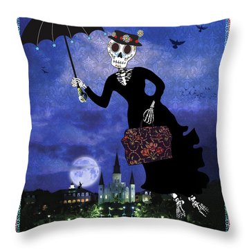 Bloody Mary Poppins Throw Pillow by Tammy Wetzel