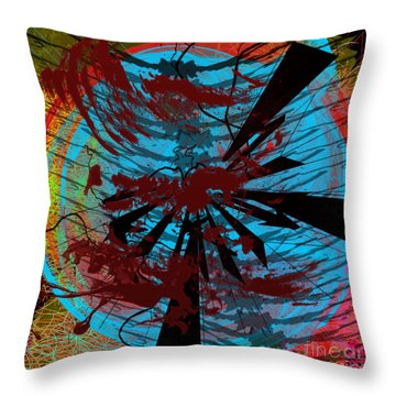 Throw Pillow featuring the digital art Bloody Mess by Clayton Bruster