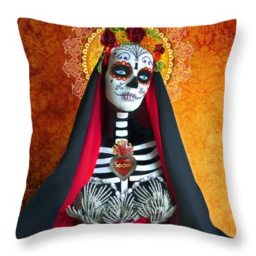 Bloody Virgin Mary Throw Pillow by Tammy Wetzel