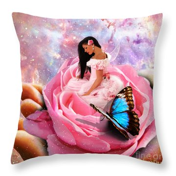 Bloom In The Hand Of The Father Throw Pillow by Dolores Develde