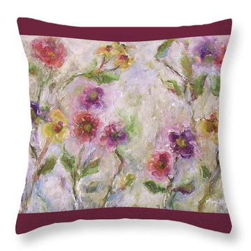Bloom Throw Pillow by Mary Wolf