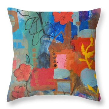 Bloom Where You Are Throw Pillow by Robin Maria Pedrero