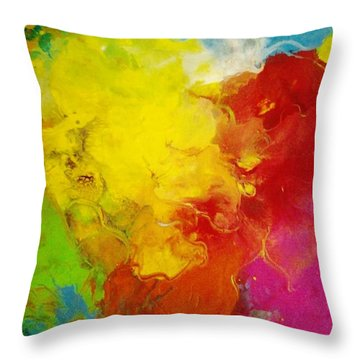 Spring Fling Throw Pillow by Kelly Turner