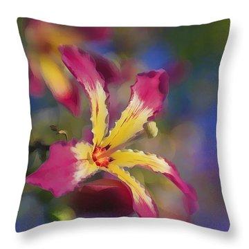Bloomin Hong Kong Orchid Throw Pillow
